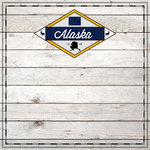 Scrapbook Customs - State Sightseeing Collection - 12 x 12 Paper - Wood - Alaska