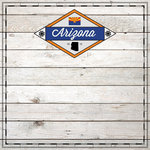 Scrapbook Customs - State Sightseeing Collection - 12 x 12 Paper - Wood - Arizona