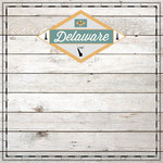 Scrapbook Customs - State Sightseeing Collection - 12 x 12 Paper - Wood - Delaware