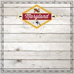 Scrapbook Customs - State Sightseeing Collection - 12 x 12 Paper - Wood - Maryland