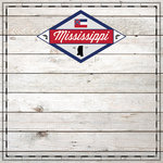 Scrapbook Customs - State Sightseeing Collection - 12 x 12 Paper - Wood - Mississippi