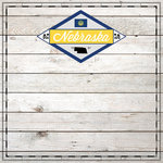 Scrapbook Customs - State Sightseeing Collection - 12 x 12 Paper - Wood - Nebraska