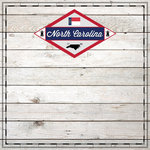 Scrapbook Customs - State Sightseeing Collection - 12 x 12 Paper - Wood - North Carolina
