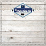 Scrapbook Customs - State Sightseeing Collection - 12 x 12 Paper - Wood - Pennsylvania