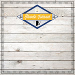 Scrapbook Customs - State Sightseeing Collection - 12 x 12 Paper - Wood - Rhode Island