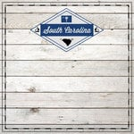 Scrapbook Customs - State Sightseeing Collection - 12 x 12 Paper - Wood - South Carolina