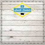 Scrapbook Customs - State Sightseeing Collection - 12 x 12 Paper - Wood - South Dakota