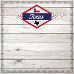 Scrapbook Customs - State Sightseeing Collection - 12 x 12 Paper - Wood - Texas