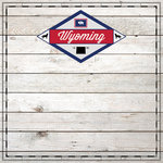 Scrapbook Customs - State Sightseeing Collection - 12 x 12 Paper - Wood - Wyoming