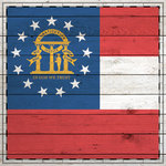 Scrapbook Customs - State Sightseeing Collection - 12 x 12 Paper - Wood Flag - Georgia
