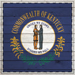 Scrapbook Customs - State Sightseeing Collection - 12 x 12 Paper - Wood Flag - Kentucky