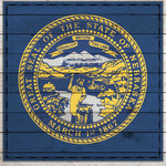 Scrapbook Customs - State Sightseeing Collection - 12 x 12 Paper - Wood Flag - Nebraska