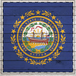 Scrapbook Customs - State Sightseeing Collection - 12 x 12 Paper - Wood Flag - New Hampshire