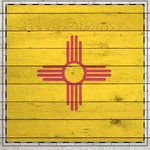 Scrapbook Customs - State Sightseeing Collection - 12 x 12 Paper - Wood Flag - New Mexico