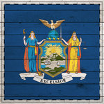 Scrapbook Customs - State Sightseeing Collection - 12 x 12 Paper - Wood Flag - New York
