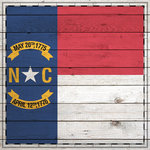 Scrapbook Customs - State Sightseeing Collection - 12 x 12 Paper - Wood Flag - North Carolina