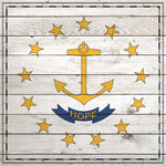 Scrapbook Customs - State Sightseeing Collection - 12 x 12 Paper - Wood Flag - Rhode Island