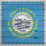 Scrapbook Customs - State Sightseeing Collection - 12 x 12 Paper - Wood Flag - South Dakota