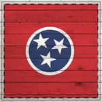 Scrapbook Customs - State Sightseeing Collection - 12 x 12 Paper - Wood Flag - Tennessee
