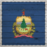 Scrapbook Customs - State Sightseeing Collection - 12 x 12 Paper - Wood Flag - Vermont