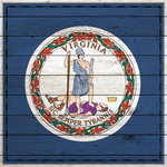 Scrapbook Customs - State Sightseeing Collection - 12 x 12 Paper - Wood Flag - Virginia