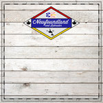 Scrapbook Customs - Canadian Provinces Sightseeing Collection - 12 x 12 Paper - Wood - Newfoundland