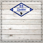 Scrapbook Customs - Canadian Provinces Sightseeing Collection - 12 x 12 Paper - Wood - Quebec