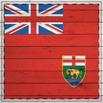 Scrapbook Customs - Canadian Provinces Sightseeing Collection - 12 x 12 Paper - Wood Flag - Manitoba