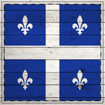 Scrapbook Customs - Canadian Provinces Sightseeing Collection - 12 x 12 Paper - Wood Flag - Quebec