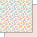 Scrapbook Customs - Baby Girl Collection - 12 x 12 Double Sided Paper - Hexagon