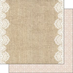 Scrapbook Customs - Burlap and Lace Collection - 12 x 12 Double Sided Paper - Borders