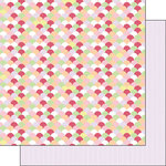 Scrapbook Customs - Valentine Collection - 12 x 12 Double Sided Paper - Bumps