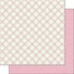 Scrapbook Customs - Valentine Collection - 12 x 12 Double Sided Paper - Plaid