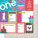 Scrapbook Customs - Birthday Girl Collection - 12 x 12 Double Sided Paper - 1st - Journal