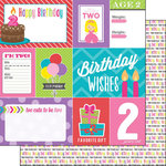 Scrapbook Customs - Birthday Girl Collection - 12 x 12 Double Sided Paper - 2nd - Journal