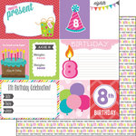 Scrapbook Customs - Birthday Girl Collection - 12 x 12 Double Sided Paper - 8th - Journal
