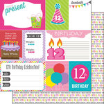 Scrapbook Customs - Birthday Girl Collection - 12 x 12 Double Sided Paper - 12th - Journal