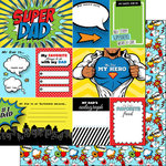 Scrapbook Customs - Superhero Collection - 12 x 12 Double Sided Paper - Dad - Journal
