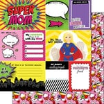 Scrapbook Customs - Superhero Collection - 12 x 12 Double Sided Paper - Mom - Journal