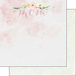 Scrapbook Customs - 12 x 12 Double Sided Paper - Mom Water Color