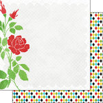 Scrapbook Customs - 12 x 12 Double Sided Paper - Magic Rose and Diamonds