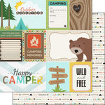 Scrapbook Customs - Outdoor Adventure Collection - 12 x 12 Double Sided Paper - Journal