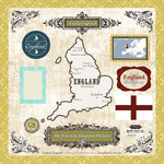 Scrapbook Customs - World Collection - 12 x 12 Laser Cut Chipboard Pieces - England