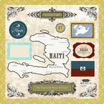 Scrapbook Customs - World Collection - 12 x 12 Laser Cut Chipboard Pieces - Haiti