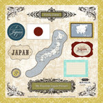 Scrapbook Customs - World Collection - 12 x 12 Laser Cut Chipboard Pieces - Japan