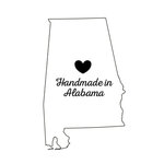 Scrapbook Customs - State Sightseeing Collection - Rubber Stamp - Handmade In - Alabama