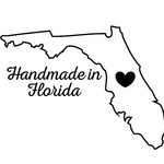 Scrapbook Customs - State Sightseeing Collection - Rubber Stamp - Handmade In - Florida
