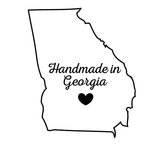 Scrapbook Customs - State Sightseeing Collection - Rubber Stamp - Handmade In - Georgia