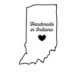 Scrapbook Customs - State Sightseeing Collection - Rubber Stamp - Handmade In - Indiana