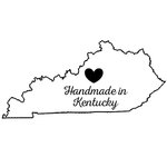 Scrapbook Customs - State Sightseeing Collection - Rubber Stamp - Handmade In - Kentucky